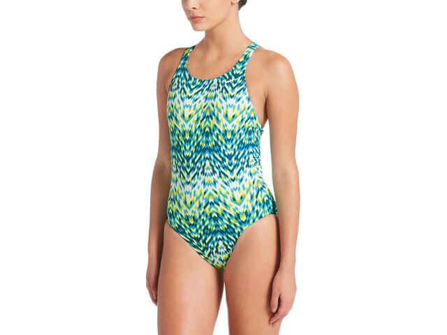 Nike Swim Digi Arrow Power Back Combinaison une pièce Femme, lt blue fury